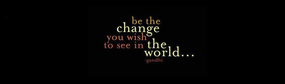 gandhi-be the change